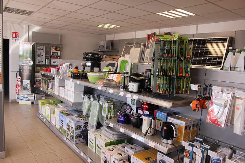 boutique d'accessoires et d'équipements pour camping car